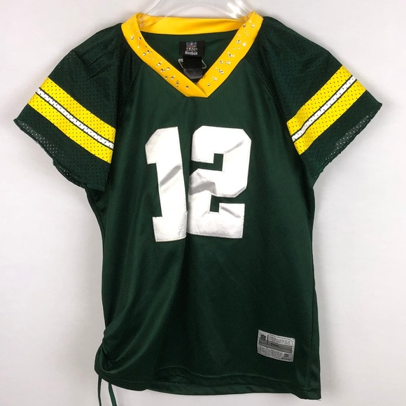 more photos fb8e8 bc85f Green Bay Packers Aaron Rodgers Girls Reebok NFL